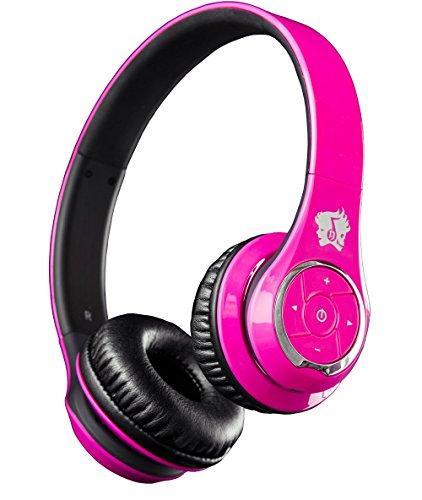 Life n Soul BN301-PKB Bluetooth Headphones, Pink & Black