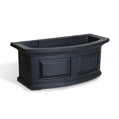 Mayne Nantucket 24'' Window Box Combo with Corbel Brackets - Black 2'