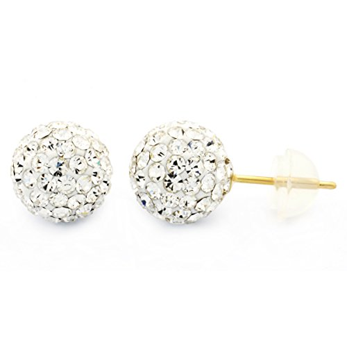Pave White Gold Earrings - 2