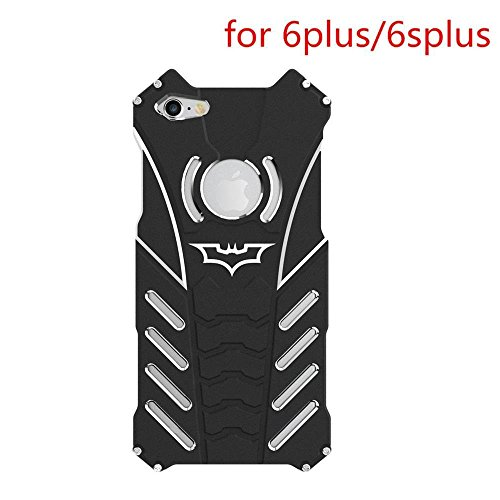 Shockproof Anti-drop Aerospace Aluminum Metal Batman Phone Protect Shell Military Grade Drop Tested Iron Man Bumper Back Cover for Apple iPhone6/6s Plus 5.5 Inch