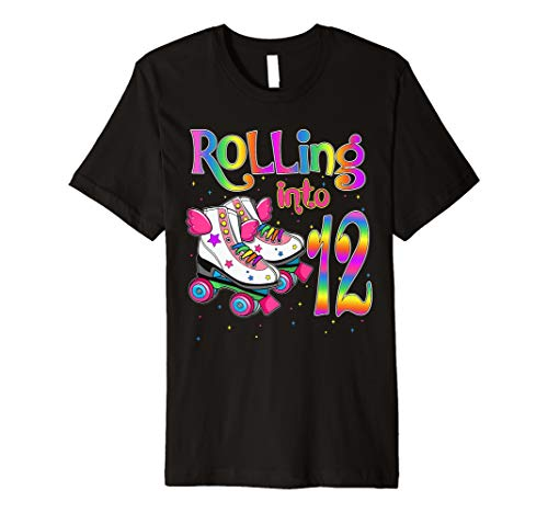 Rolling Into 12 years Lets Roll I'm Turning 12 Roller Skate  Premium T-Shirt