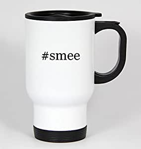 #smee - Funny Hashtag 14oz White Travel Mug