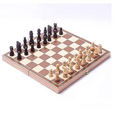 International Chess 30 30cm Funny Folding Folable Wooden International Chess Set Board Game Funny Game Sports Entertainment