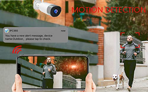 Mibao Outdoor Security Camera, 1080P Weatherproof WiFi CCTV Camera,Bullet IP Camera With Night Vision, Two Way Audio…