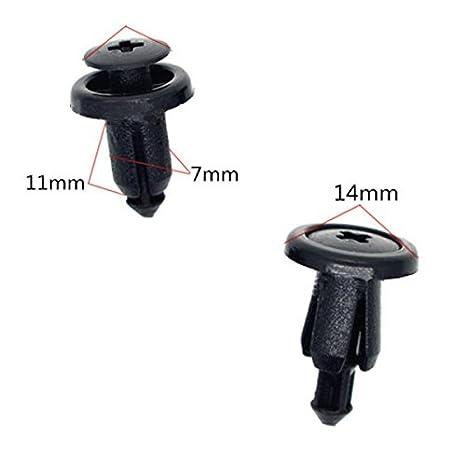 muchkey 1& # xff58; 10Fcil eliminacin coche y moto y embellecedor de plstico Panel de carenado clips 7mm se adapta para Kawasaki ?gastos de envo gratis ...