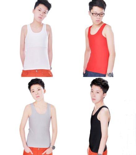 bc61eb958a63f7 Whatwears Les Lesbian GL Undershirt Tomboy Chest Binder Flat Slim Vest