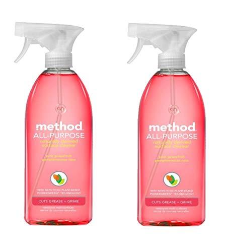 Method All-purpose Natural Surface Cleaner, Pink Grapefruit 28 Fl Oz (Pack of 2)