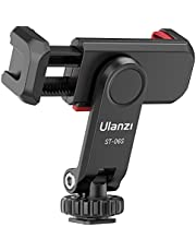 Camera Phone Hot Shoe Holder - ST-06s Cell Phone Tripod Mount Adapter 2 Cold Shoe Phone Clip 360 Rotation Smartphone Clamp Compatible for iPhone Android Sony Canon DJI Ronin S/SC Zhiyun Gimbals