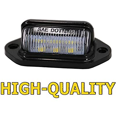 UTSAUTO 12V LED License Plate Lamp Light for Truck SUV Trailer Van RV, Dome/Cargo Lights (4 Pack): Automotive
