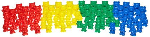 School Specialty Teddy Bear Manipulative Counters - Assorted Sizes - Set of 96 - Assorted Colors