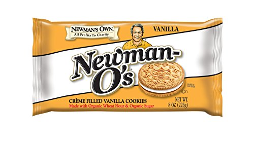 Newman's Own Newman-O's, Crème Filled Vanilla Cookies, 8-Ounce Packages (Pack of 6)