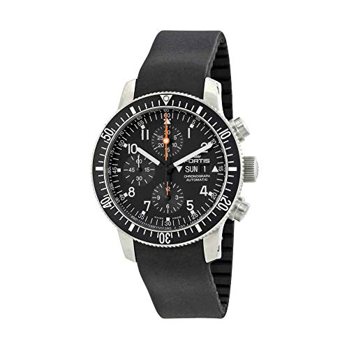 Fortis Cosmonauts Chronograph Black Dial Men's Watch 638.10.11 K