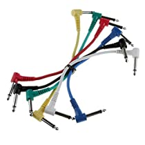 Foto4easy Set of 6 Pcs Guitar Patch Cable Effects Pedal 1/4