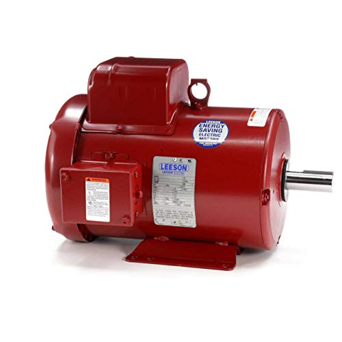 Leeson Farm Duty Electric Motor - 3.0 HP, 1,740 RPM, 230 Volts, Single Phase, Model Number P184C17FB13 (Electric Motor 3 Hp)