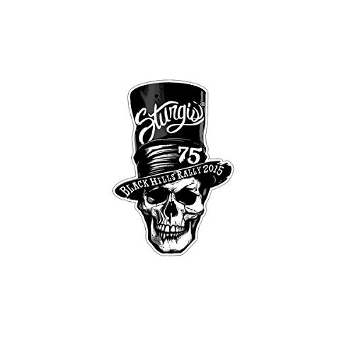 Hot Leathers Official 2015 Sturgis Motorcycle Rally 75th Anniversary Stovepipe Top Hat Skull Patch