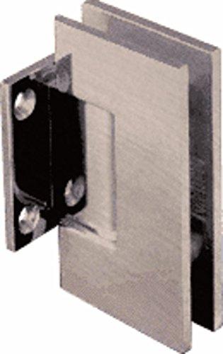 CRL Geneva Series Antique Brushed Nickel Wall Mount Short Back Plate Hinge (Standard Model)