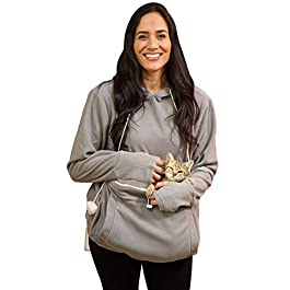 KITTYROO Cat Hoodie, The Original AS SEEN ON TV Kitty Carrying Sweatshirt, with Super Soft Kangaroo Pet Pouch