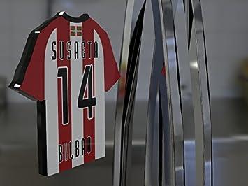 Imán para frigorífico con diseño de camiseta de fútbol de la primera división de la Liga Española, material acrílico, personalizable, plástico, ...