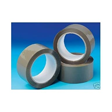 6 ROLLS BROWN/BUFF PACKING TAPE, PARCEL TAPE by Speedy Packaging Speedy Packaaging 6tapes1