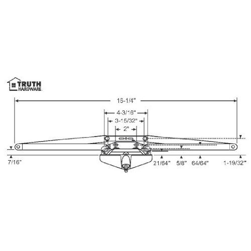 STB Sill Mounted Awning Window Operator, Bronze, 16-1/4''