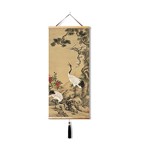 k Chinese painting home decoration,Paintings on Canvas Wall Art for Living Room /Bedroom Home Decorations (35X80CM) (Chinese Art Wall Scroll Painting)