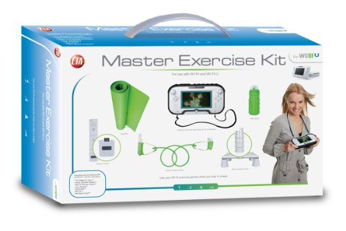 CTA Digital Master Exercise Kit For Wii Fit U & Wii Fit (includes Protective Case With Neck Strap for Wii U)