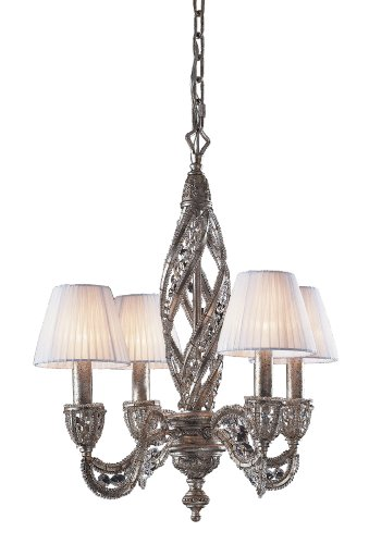 Elk Renaissance 4-Light Chandelier, Sunset Silver