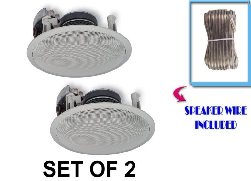 Yamaha Custom Easy-to-install In-Ceiling Flush Mount 2-Way 120 watts Natural Sound Speaker Set (Pair of 2) with 1
