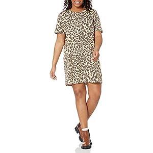 Amazon Brand - Wild Meadow Women's Short Sleeve Crewneck Printed T-Shirt Dress