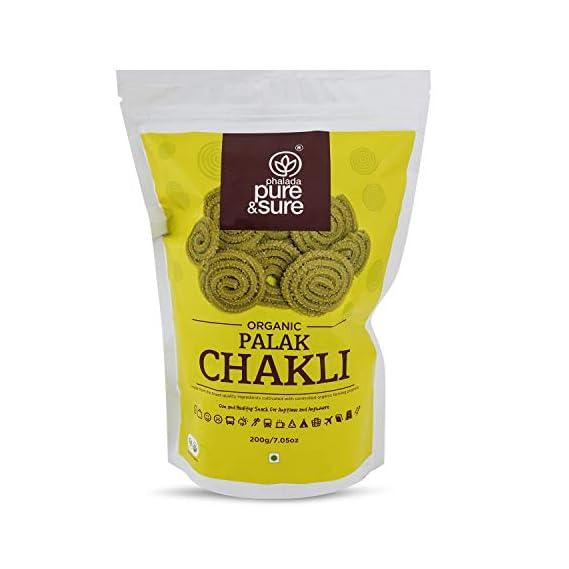 Pure & Sure Organic Palak Chakli 200gm