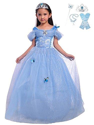 Lito Angels Girls Princess Cinderella Dress Up Costume