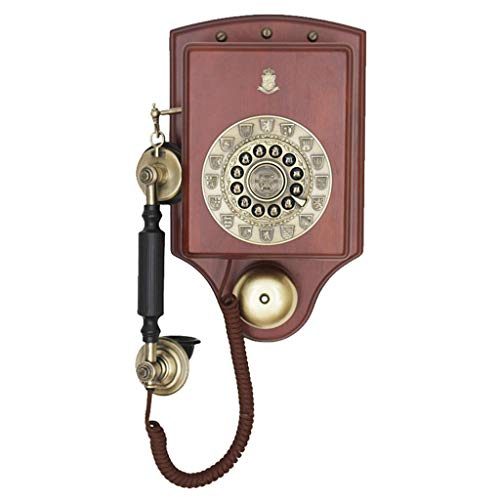 BAIF Health UK Telephone- Wall-Mounted Telephone European Style Solid Wood Antique Telephone Classical Telephone Old Antique Telephone Welcome