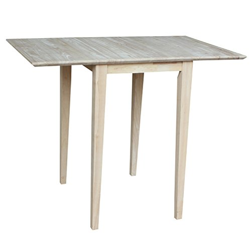 International Concepts T-2236D Small Drop-leaf Table, Unfinished ()