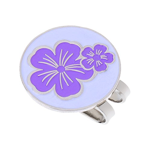 Dovewill Golf Hat Clip With Detachable Magnetic Golf Ball Marker Cap Clip - - Marker Hat Ball Clip Flowers