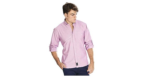 Camisa Oxford Manga Larga de Hombre en Color UVA - 8_4XL ...