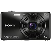 Sony DSCWX220 Compact Digital Camera with Wi-Fi and NFC - Black (18.2MP, 10x Optical Zoom)