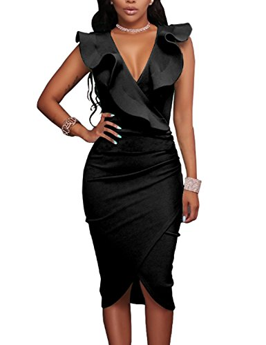 Ruched Little Black Dress - 9