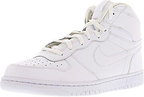 Nike Mens High Basketball Sneakers (Blanco / Blanco, 12)