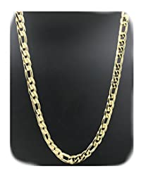 Gold Chain Necklace 14K Solid Gold Filled 7MM Figaro Chain Link Tarnish Resistant USA Made!