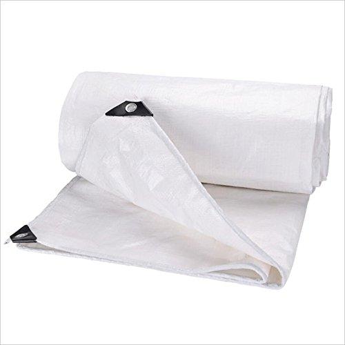 ランダムピニオン位置するPENGFEI 白 オーニング 防水 防水布 ピクニック ビーチマット 防湿性 日焼け止め 防塵の 防風 絶縁、 厚さ0.35mm、 -160g / m 2、 オプションの4サイズ ( サイズ さいず : 4 x 6m )
