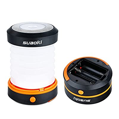 Suaoki Camping Lantern Led Light Flashlight Powered By 3AA Batteries Collapsible Ultra Compact Great for Hiking Camping Tent Garden Patio etc