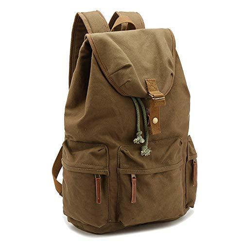 Backpack for Cameras Shoulder Camera Bag Casual Vintage Outdoor Travel Canvas Bag (Color : Green)