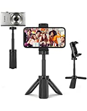 MOUNTDOG Phone Tripod Stand Compact Mini Tripod for Cell Phone, Extendable Tabletop Desk Tripod Compatible with iPhone Android Smartphone, 360° Rotation, Great for Watch Video and Facetime