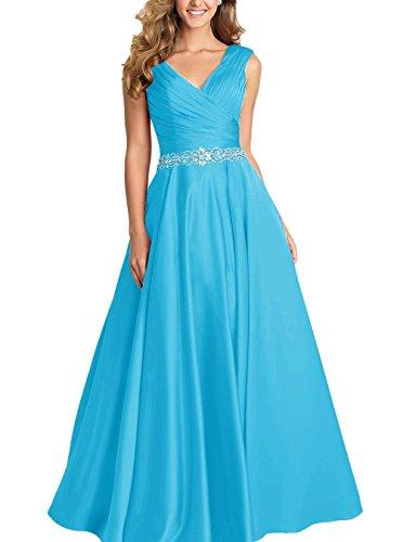 Promworld Damen A-Linie Kleid blau königsblau Gr. 54, blau