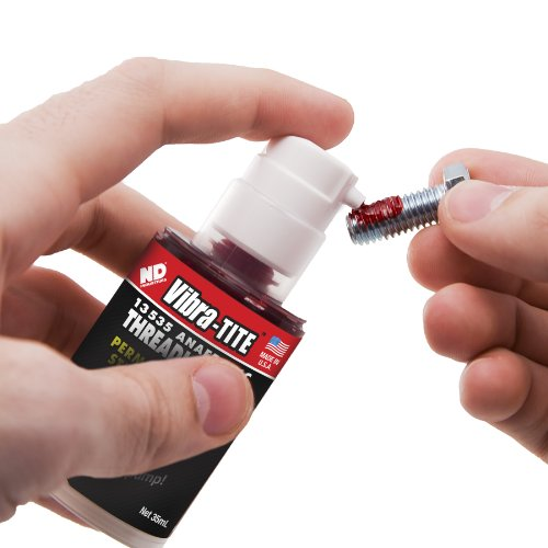 Vibra-TITE 135 Permanent Strength Gel Anaerobic Threadlocker, 35 ml Pump, Red by Vibra-TITE (Image #2)