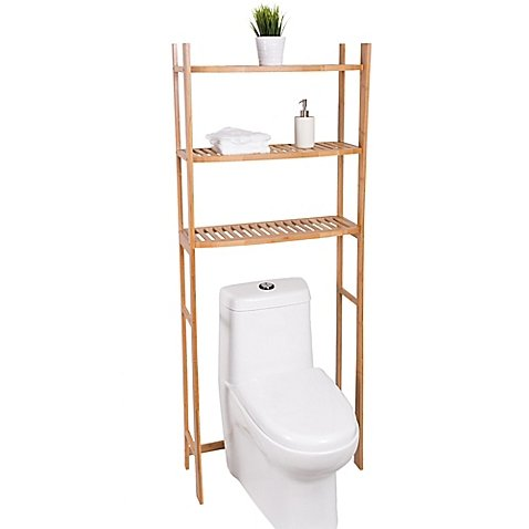 Best Living 3-Shelf Bamboo Over-the-Toilet Space Saver
