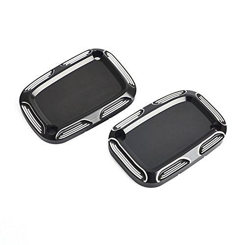 NICECNC Edge Cut Front Clutch & Brake Master Cylinder Covers Set Replace VRSC 2006- Night Rod Special VRSCDX 2007-2017 VRSCD 2006-2008 Street Rod VRSCR 2006-2007 ()