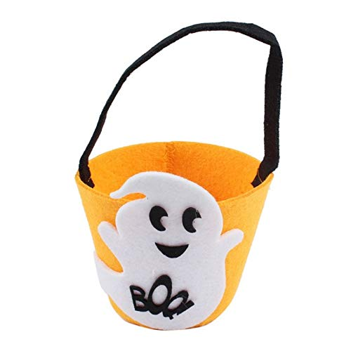 Gift Communion - Halloween Smile Pumpkin Bag Kids Candy Children Gift Delicate Decoration Handheld Party Trick Or - Chucky Murder Book Have Mask Figure Gene Play Party Treat House Myster ()