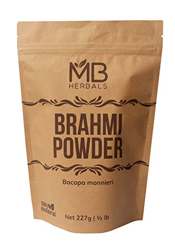 MB Herbals Pure Brahmi Powder 227g | Half Pound | Bacopa Powder | Promotes Hair Growth | Enhances Learning Memory | Improves Learning Ability