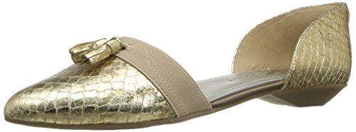 Klein Fabric Multi Women's Flat Fabric Oksie Anne Ballet Light Gold dzqRd8